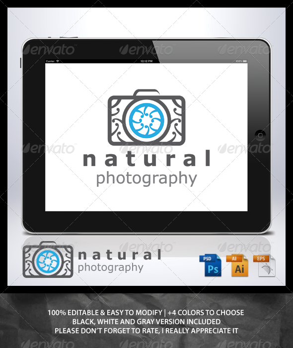 GraphicRiver Natural Photography Logo 6829983