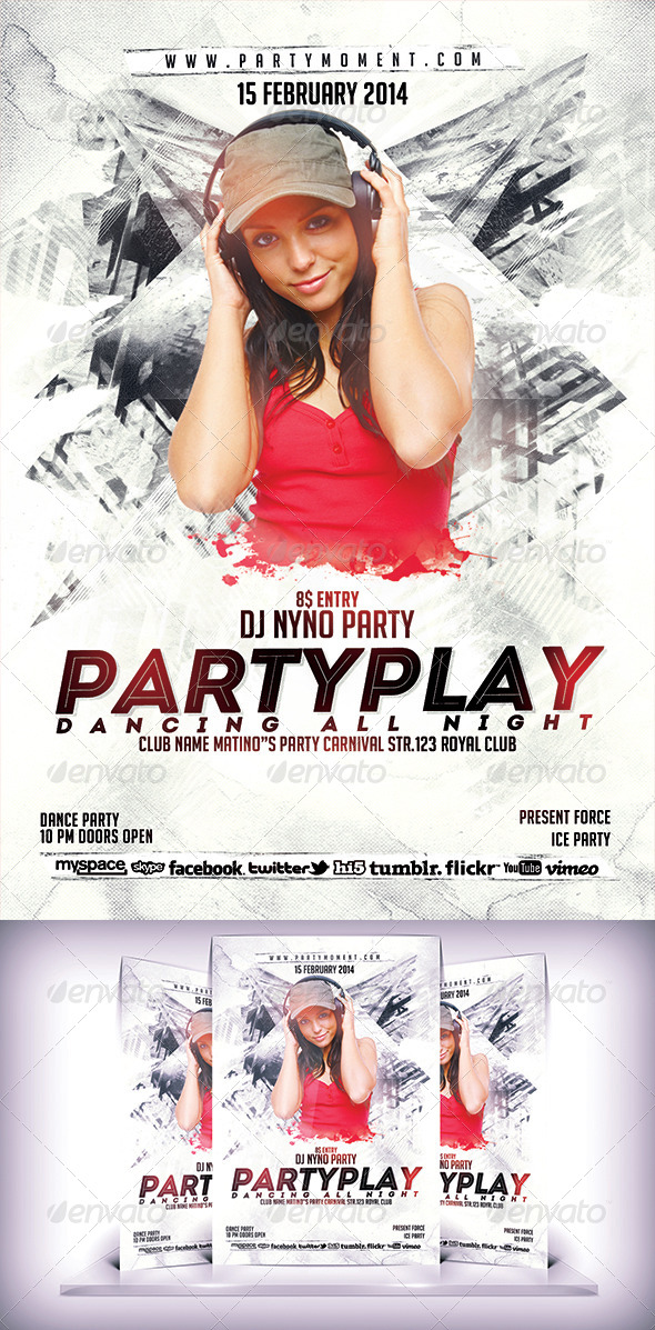 GraphicRiver PartyPlay Flyer 6830131
