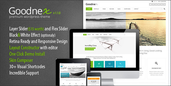 Goodnex Premium Responsive WordPress Theme - Corporate WordPress