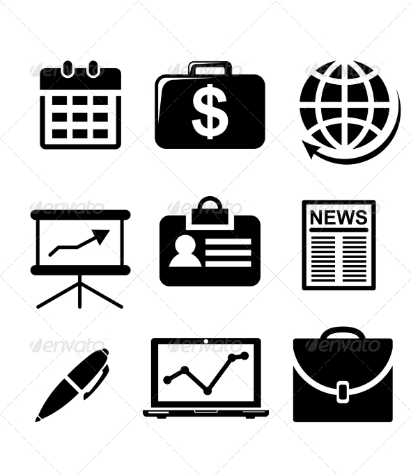 GraphicRiver Set of Business Icons 6830446