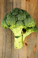 fresh cabbage broccoli on a wooden board - PhotoDune Item for Sale