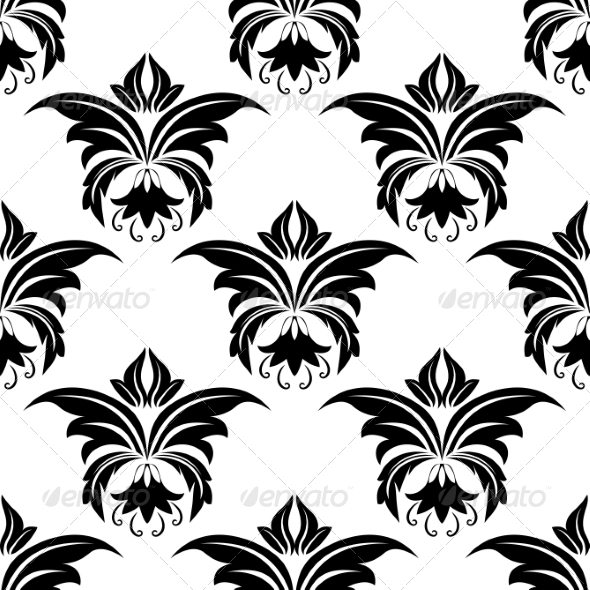GraphicRiver Seamless Floral Arabesque Pattern 6830485
