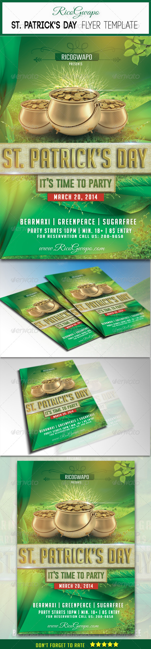 GraphicRiver St Patrick s Flyer Template 6832019