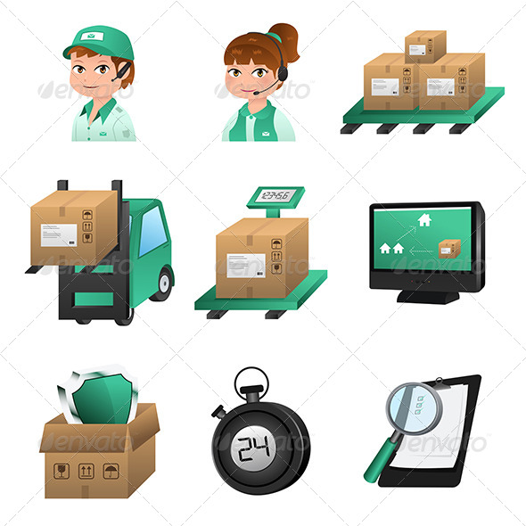 GraphicRiver Logistic Icons 6833418