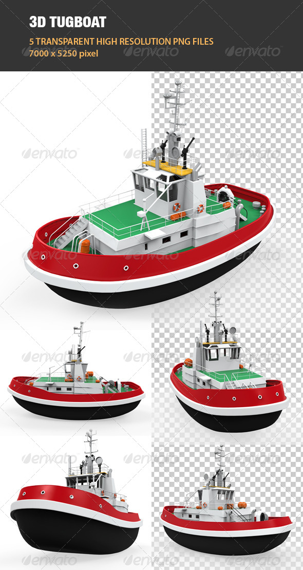 GraphicRiver 3D Tugboat 6833813
