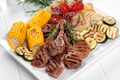 Barbecued Lamb and Grilled Vegetables - PhotoDune Item for Sale