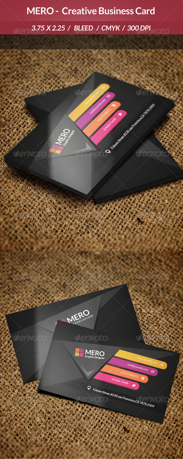 GraphicRiver Mero Creative Business Card 6815217