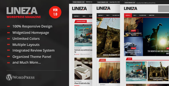 ThemeForest Lineza Modern Responsive Magazine Theme 6798868