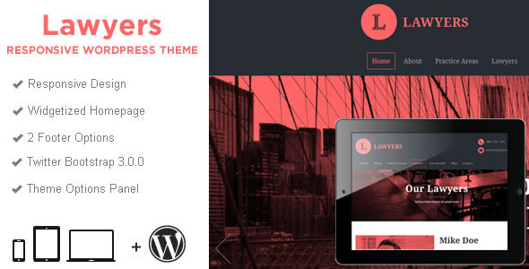 ThemeForest Lawyers Responsive Business Wordpress Theme 6835497