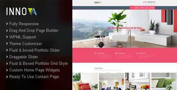 Innova - Interior & Funiture WordPress CMS Theme