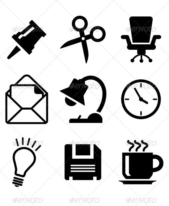 GraphicRiver Set of Office Icons 6835724