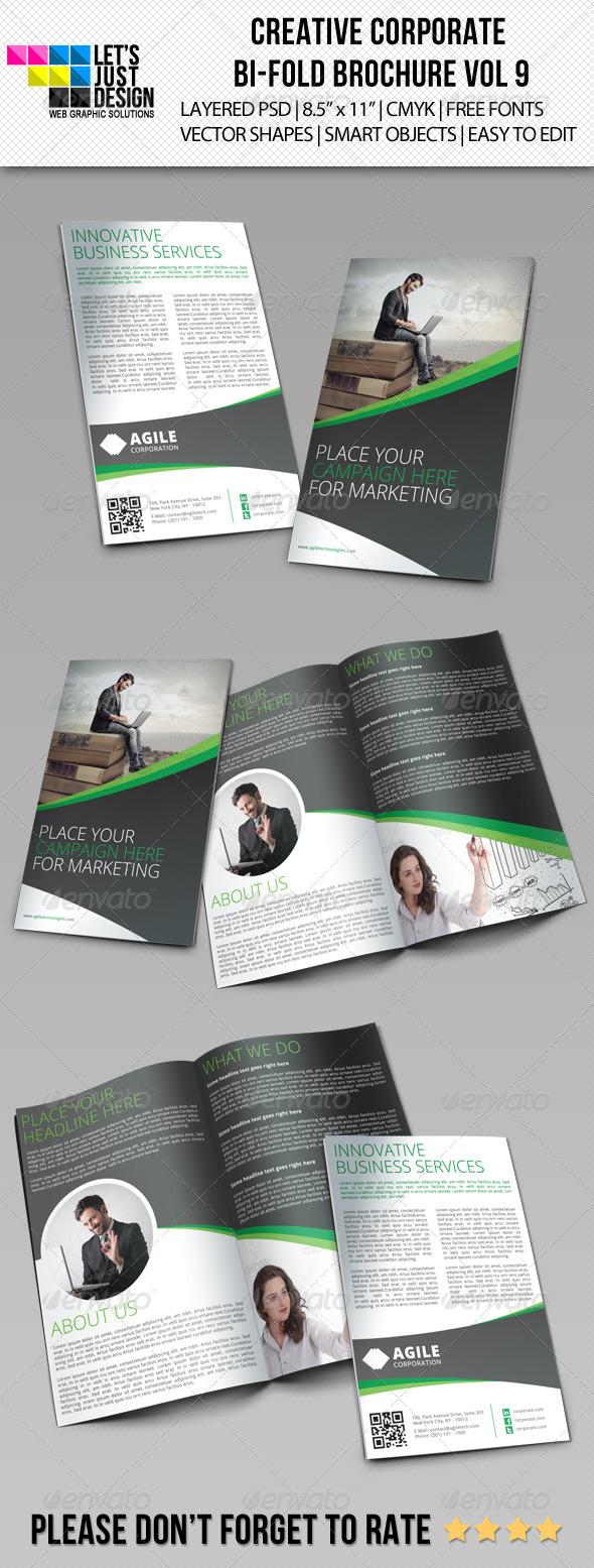 GraphicRiver Creative Corporate Bi-Fold Brochure Vol 9 6835871