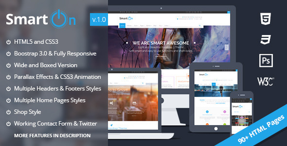 ThemeForest SmartOn Ultimate Boostrap HTML5 Responsive Theme 6826451