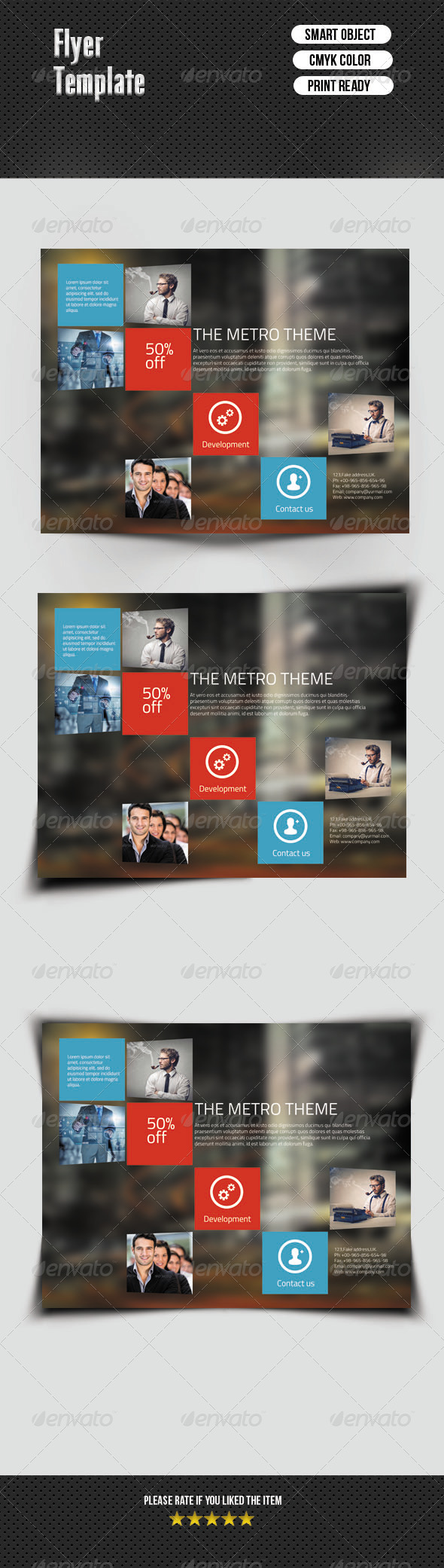 GraphicRiver Metro Style Corporate Flyer 6836110