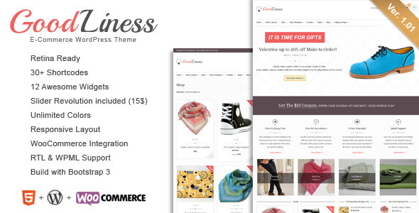 ThemeForest GoodLiness Retina Responsive WooCommerce Theme 6822303