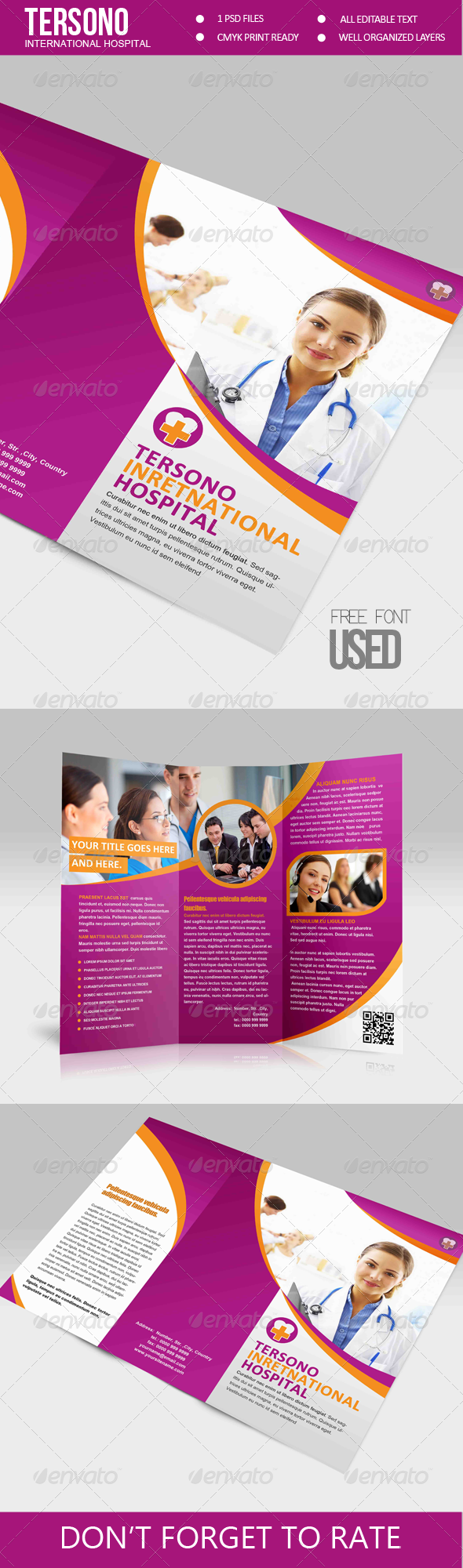 Trifold Brochure - Tersono Medical Template - Corporate Brochures