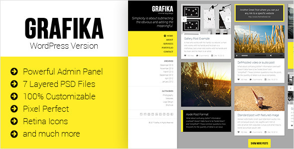 ThemeForest Grafika Full Screen Portfolio & Blog Theme 6821219
