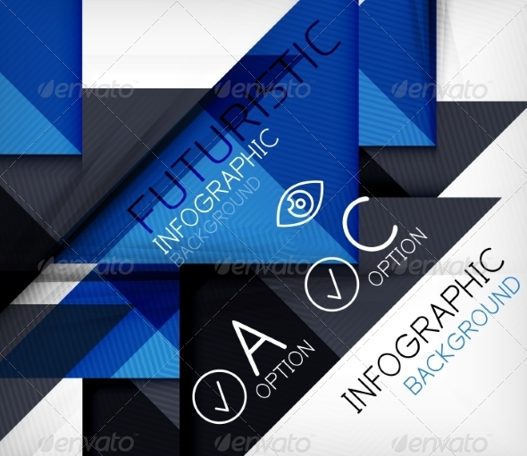 GraphicRiver Triangle Geometric Shape Infographic Background 6838345