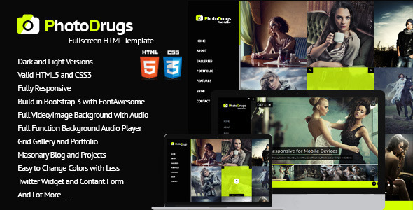 PhotoDrugs Full Video/Image Background with Audio - Photography Creative