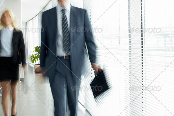 Walking in office - Stock Photo - Images