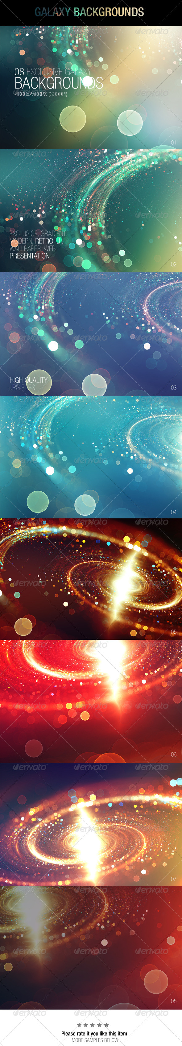 GraphicRiver Galaxy Backgrounds 6839679