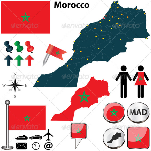 GraphicRiver Map of Morocco 6839699