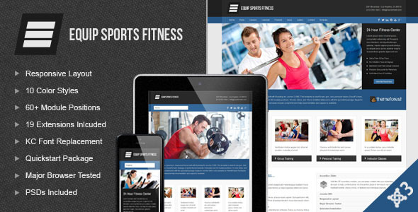 Equip Joomla Sports and Fitness Theme - Health & Beauty Retail