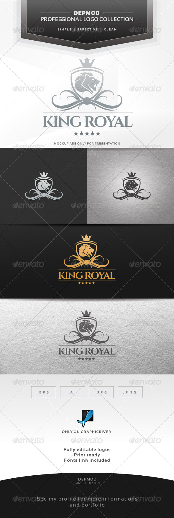 GraphicRiver King Royal V.02 Logo 6839831