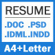 Resume Cover Letter - A4 and US Letter Sizes - GraphicRiver Item for Sale