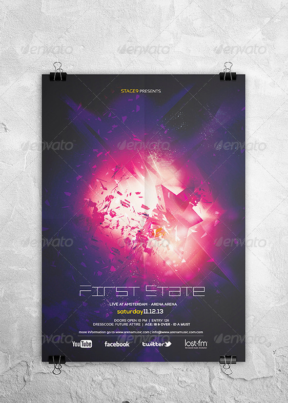 Starlight Flyer Template - Clubs & Parties Events