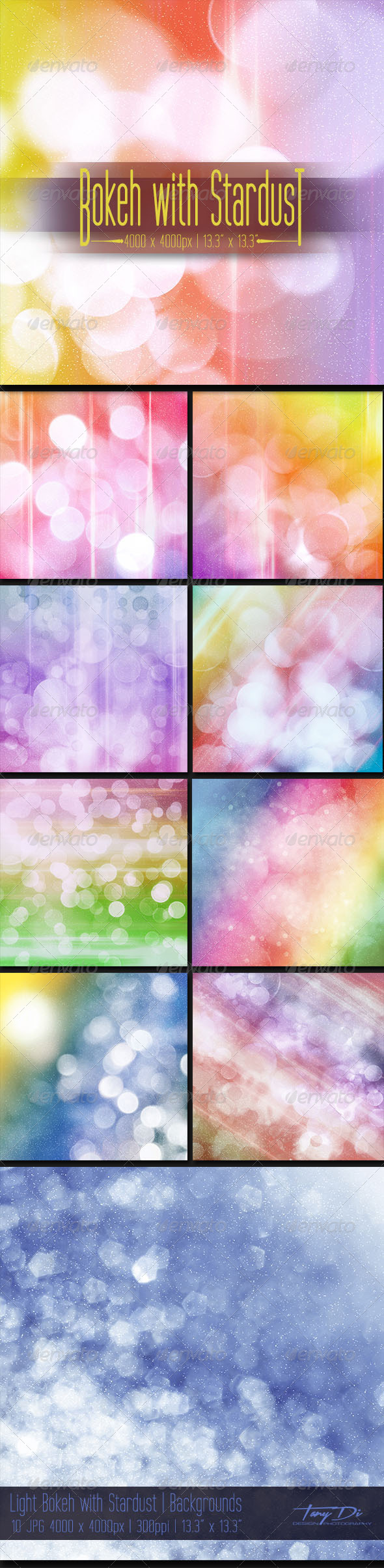 GraphicRiver Light Bokeh with Stardust 6840008