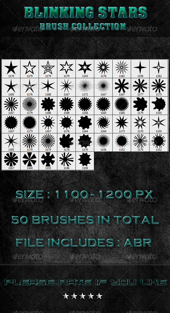 GraphicRiver Blinking Stars Brush Collection 6840049