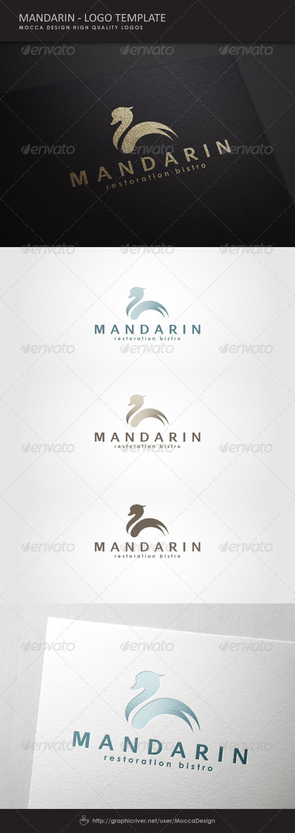 Mandarin Logo - Animals Logo Templates