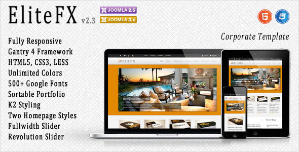 EliteFX - Fully Responsive Joomla Template - Corporate Joomla