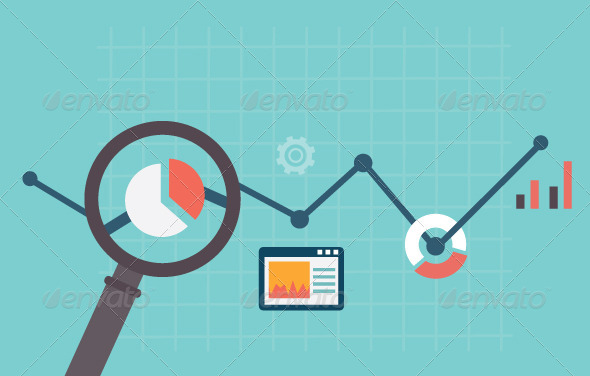 GraphicRiver Flat Illustration of Analytics Information 6840641