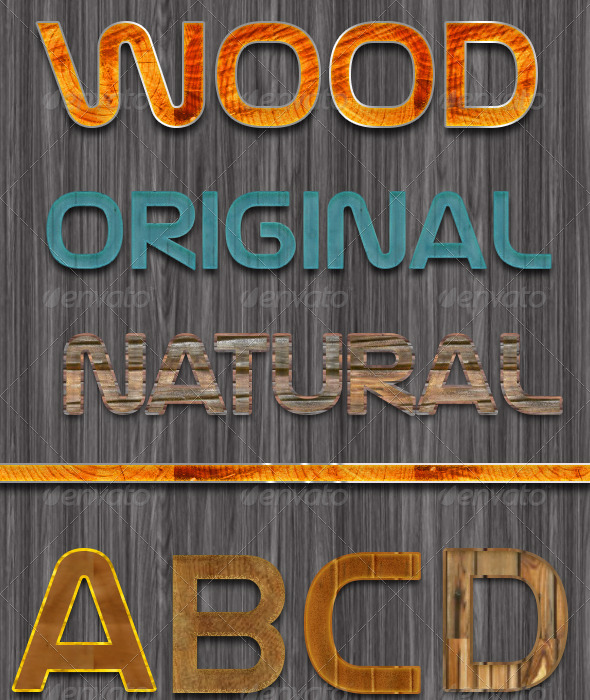 GraphicRiver Original Wood Text Styles 6840775