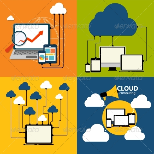 GraphicRiver Cloud Computing Concept on Different Devices 6841270