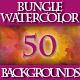 Set of 50 Watercolor Backgrounds Bundle. - GraphicRiver Item for Sale