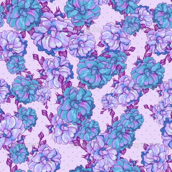 GraphicRiver Vintage Floral Seamless Pattern 6842070