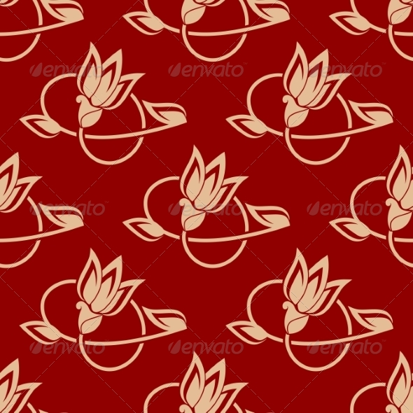 GraphicRiver Repeat Floral Pattern in a Seamless Design 6842179