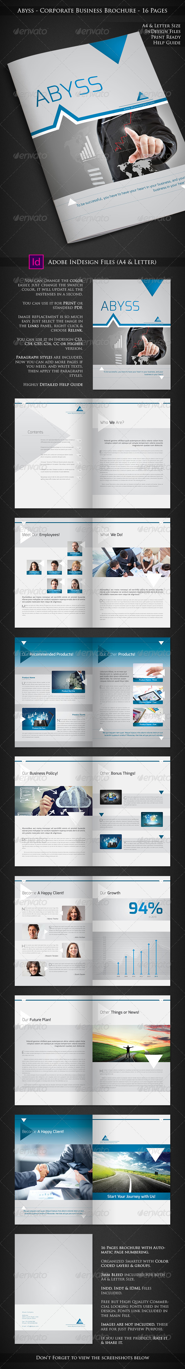 GraphicRiver Abyss Corporate Business Brochure 16 Pages 6842570