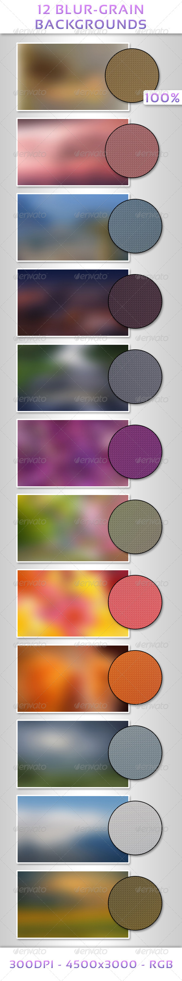 GraphicRiver 12 Blur-Grain Backgrounds 6842856