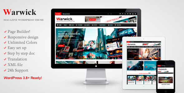 ThemeForest Warwick Responsive News Magazine WordPress Theme 6844293