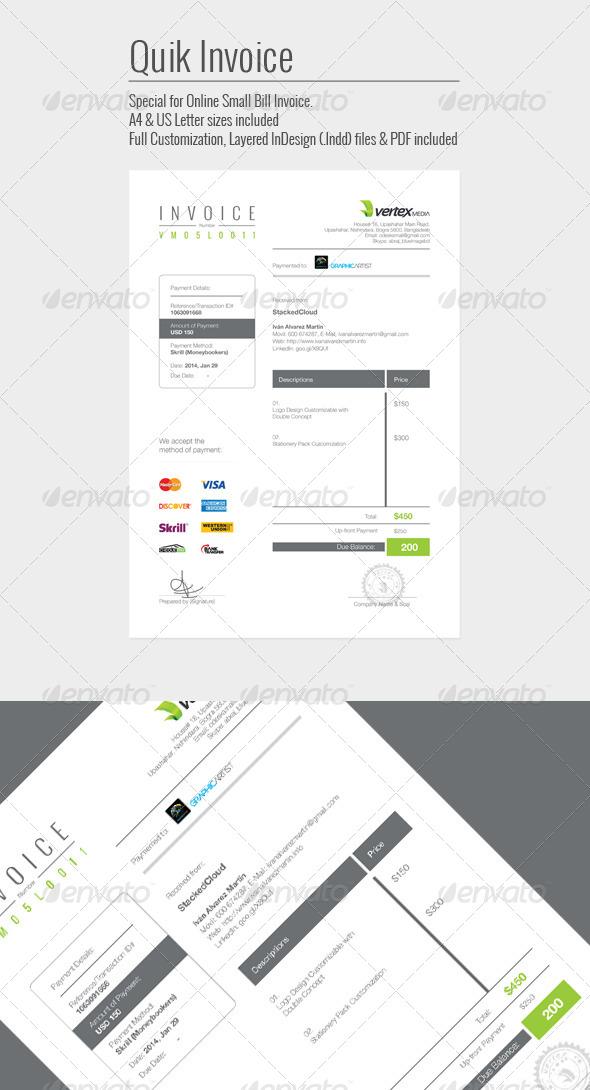 GraphicRiver Quik Invoice 6844390