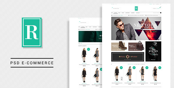 ThemeForest Royal E-Commerce PSD Template 6845020