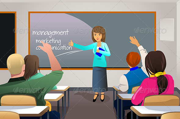 GraphicRiver Teacher Teaching College Students 6845109