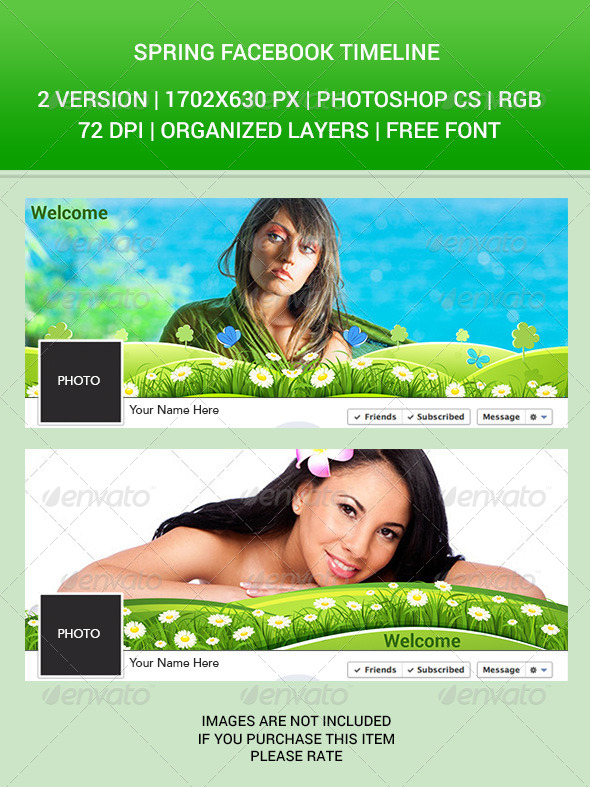GraphicRiver Spring Facebook Timeline 6845732