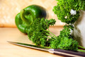 Chopping parsley and peppers - PhotoDune Item for Sale