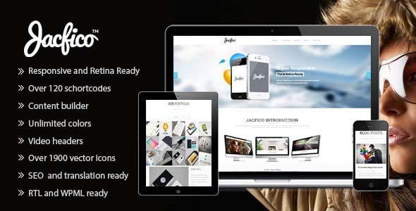 Jacfico - A flexible One Page Wordpress Theme - Creative WordPress