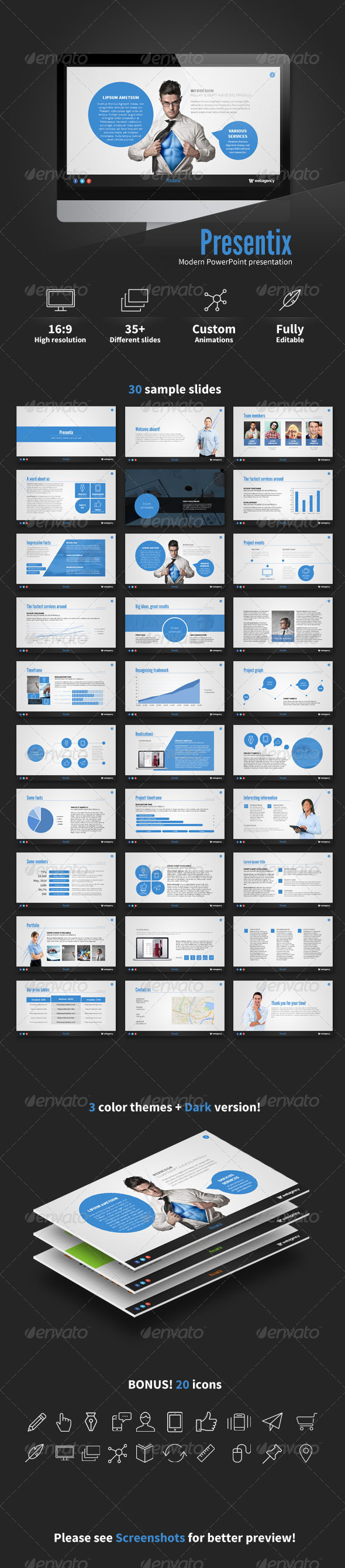 GraphicRiver Presentix PowerPoint presentation 6847709